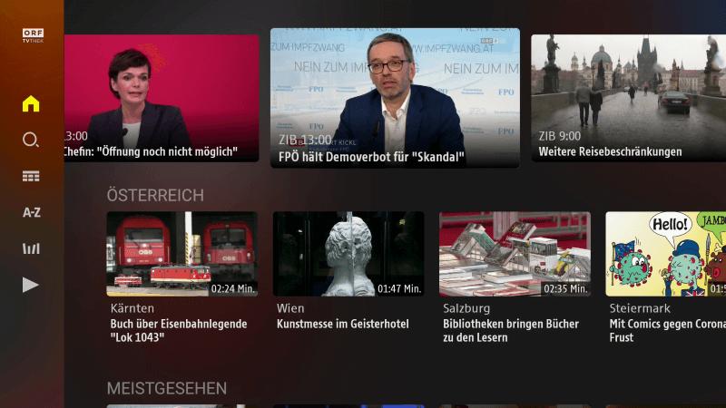 ORF TVThek - Fernsehen aus Österreich auf dem Amazon Fire TV Stick gucken