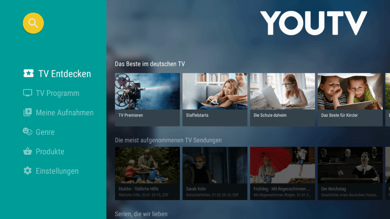 YOUTV auf dem Amazon Fire TV Stick