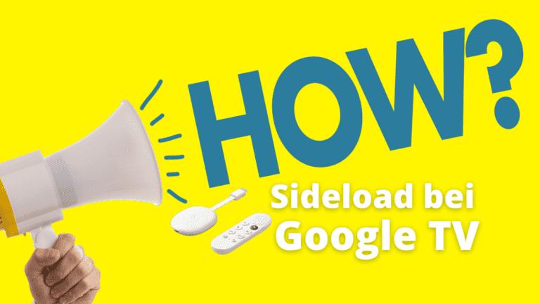Sideload Google TV