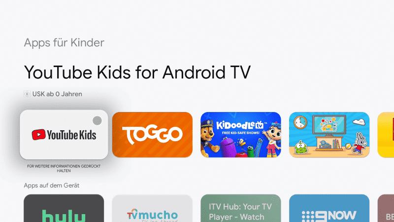 Apps für Kinder Google Chromecast mit Google TV
